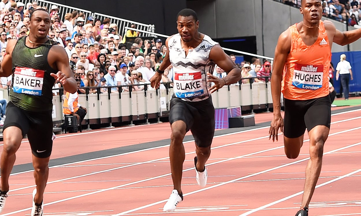 Yohan Blake leads fields at Loughborough meet