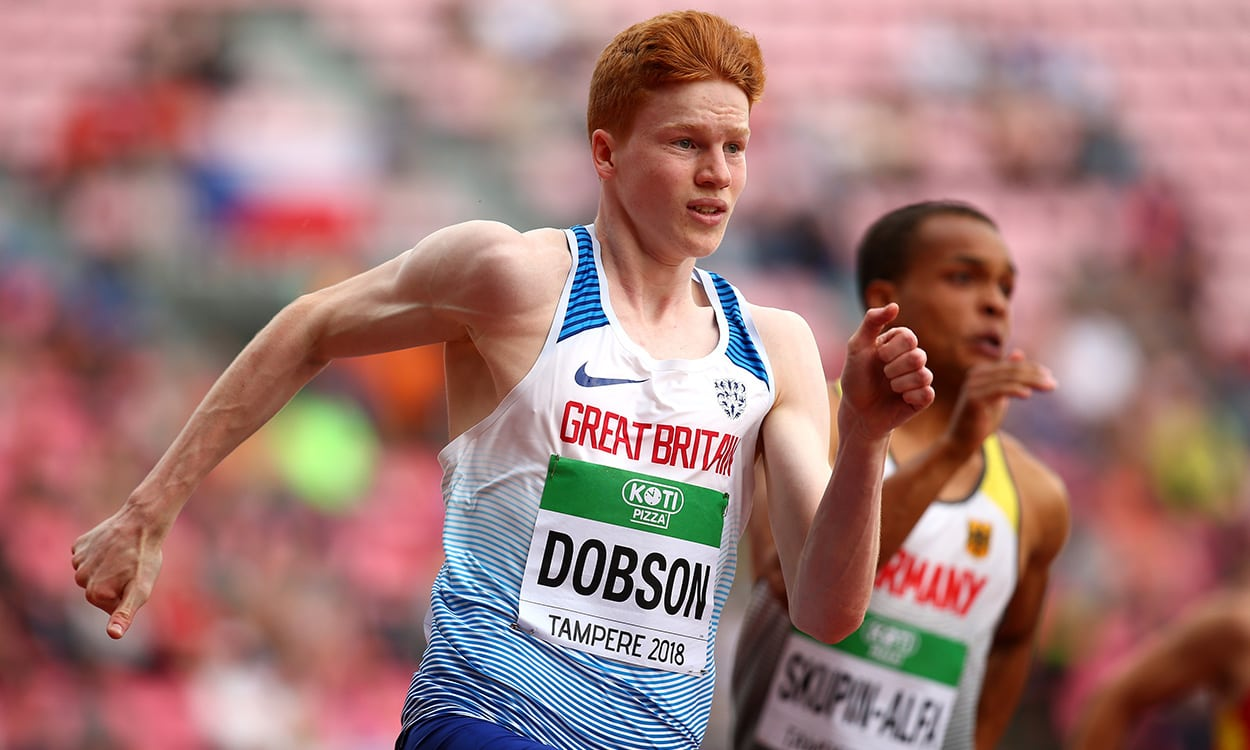 Charlie Dobson is a sprinter on the rise