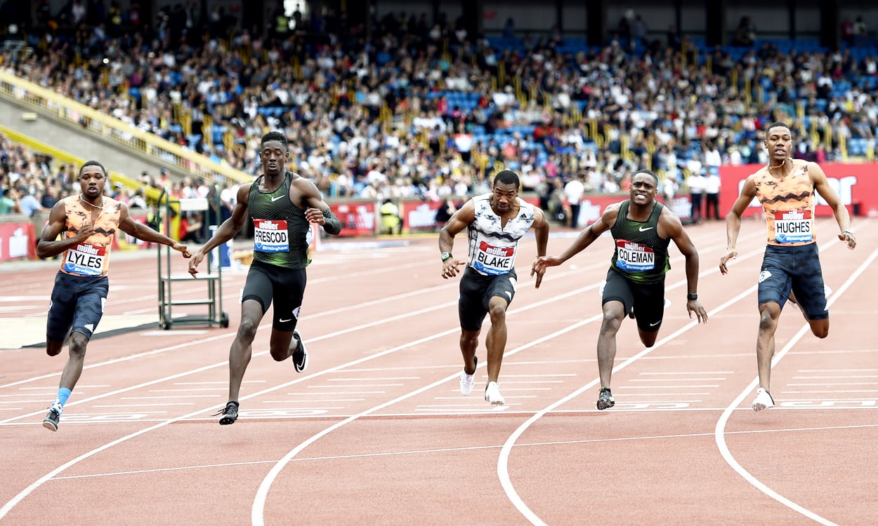 Christian Coleman pips Reece Prescod in 100m thriller
