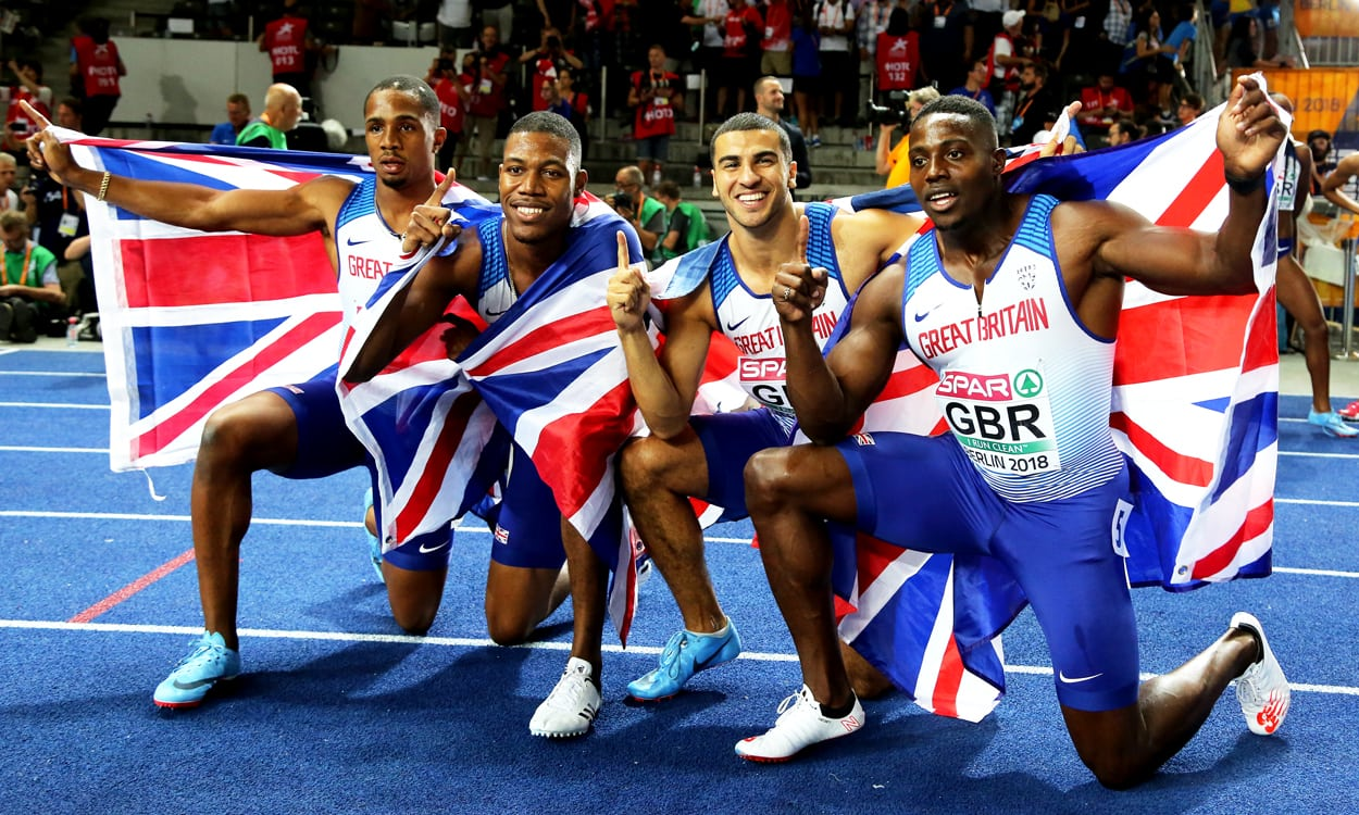 Britain's 4x100m relay squad say golden goodbye to Berlin