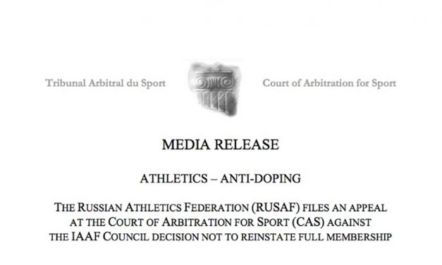 Russian athletics federation to appeal IAAF decision at CAS