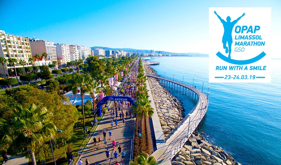 Win the race place of your choice at OPAP Limassol Marathon GSO 2019