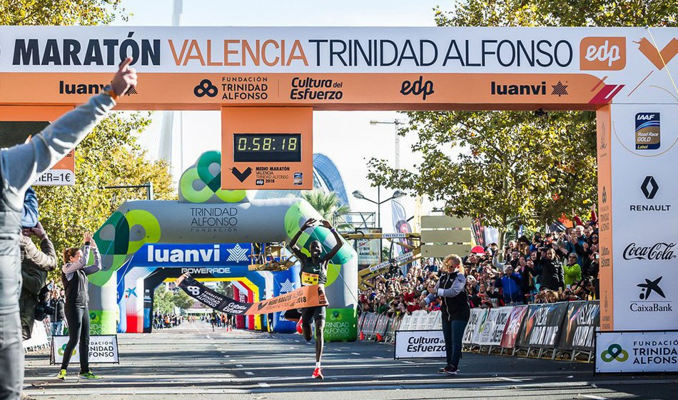 Abraham Kiptum breaks world half-marathon record