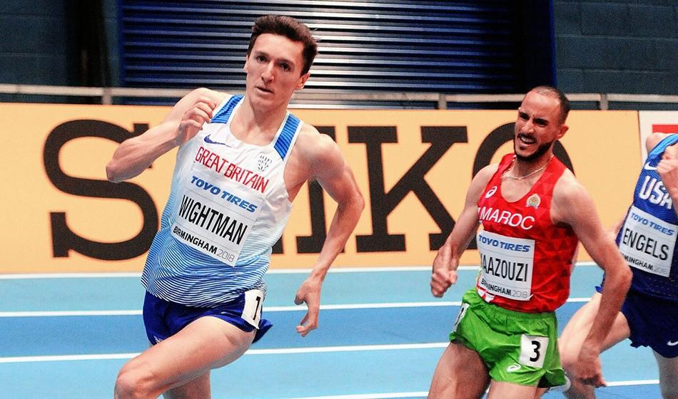 Jake Wightman breaks British indoor 1000m best in Boston
