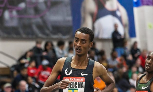 Yomif Kejelcha breaks world indoor mile record in Boston