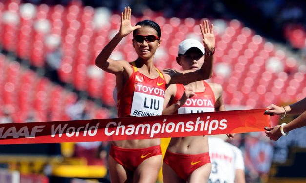 Liu Hong breaks world 50km race walk record