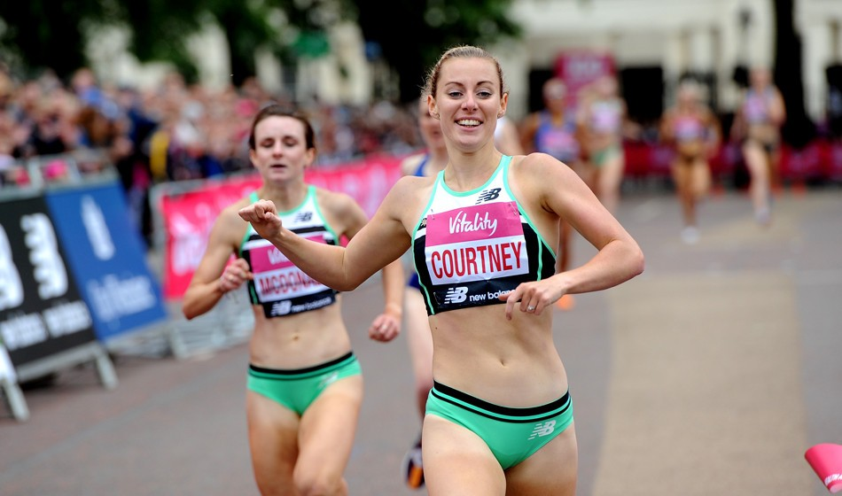 Melissa Courtney and Chris O'Hare take Westminster Mile titles
