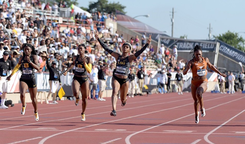 Sha'Carri Richardson runs record-breaking NCAA sprint double