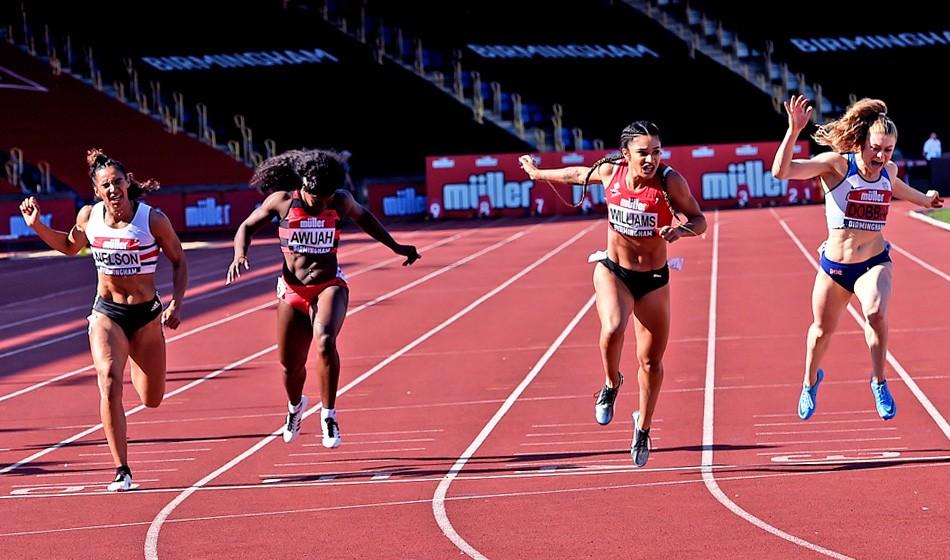 Jodie Williams and Eilish McColgan storm to British title wins