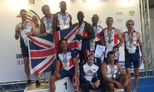 Don Brown leads Britain to dominance at Euro Masters sprint hurdles and 200m