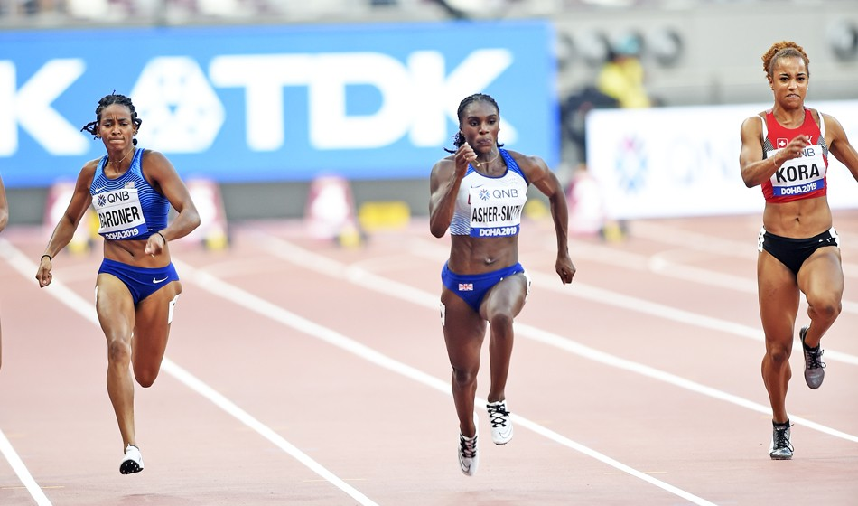 Dina Asher-Smith makes low-key return to action