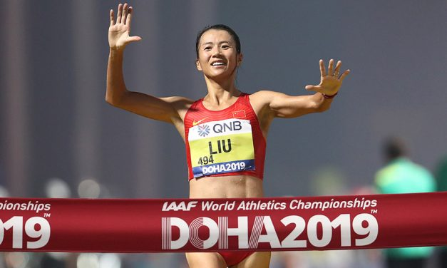 China sweep women's 20km race walk medals in Doha