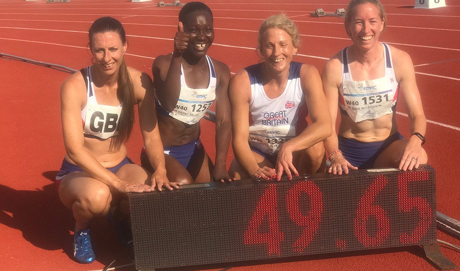 GB records fall in Euro Masters relays