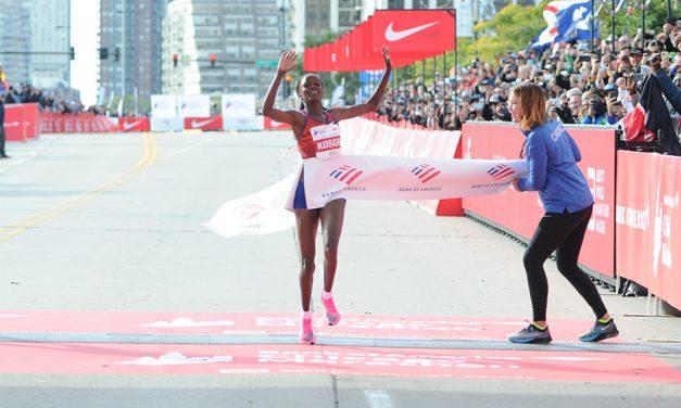 Brigid Kosgei smashes marathon world record in Chicago