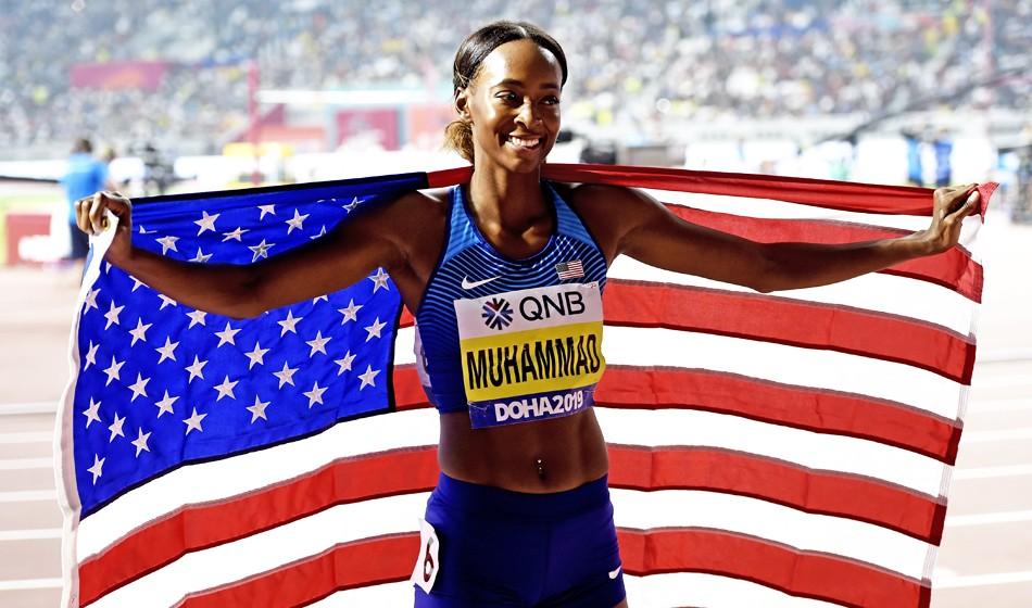 Dalilah Muhammad breaks world record again