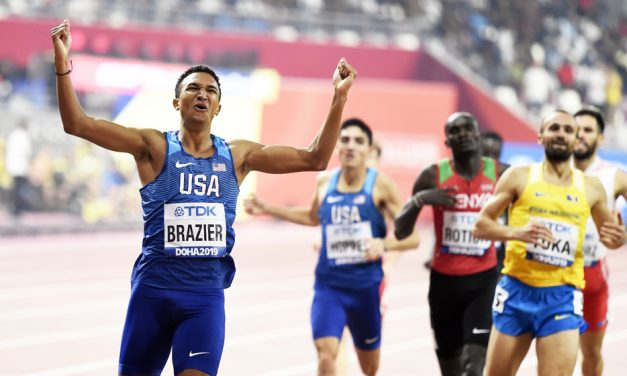 Record-breaking Donavan Brazier runs perfect race