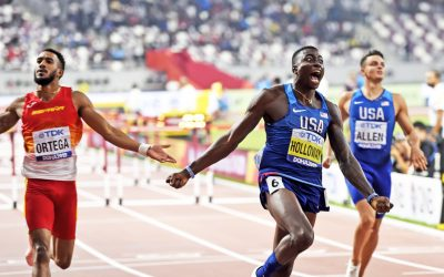 Global gold for Grant Holloway