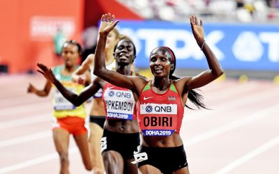 Hellen Obiri successfully defends world title as Brits excel