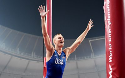 Sam Kendricks beats Mondo Duplantis in world pole vault thriller