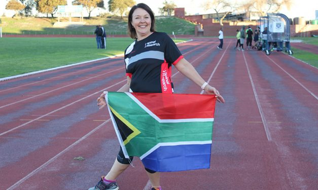 Anita Burger runs to support Spinal Research