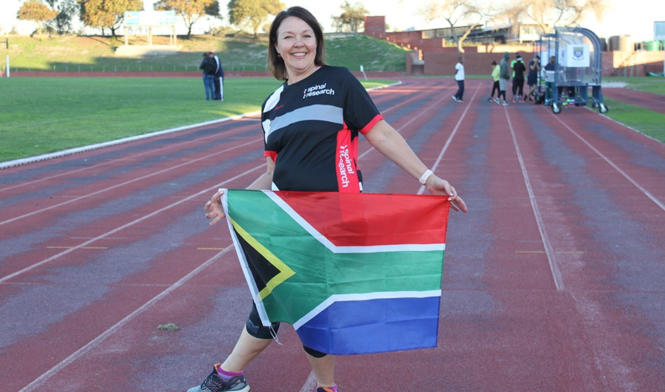 Anita Burger runs to support Spinal Research