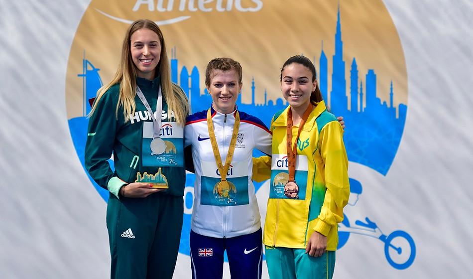 Sophie Hahn seals sprint double in Dubai