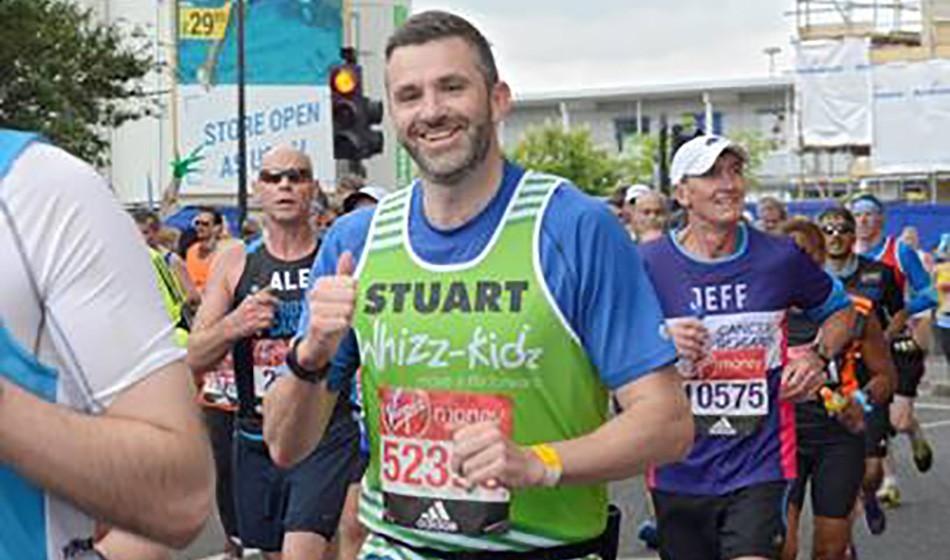 How Stuart became a running superhero for Whizz-Kidz