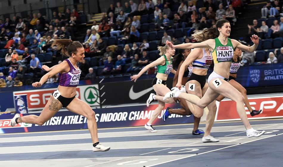 Amy Hunt sprints into senior spotlight with UK 60m win