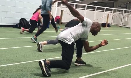 Exercise focus – elbow to ankle lunge