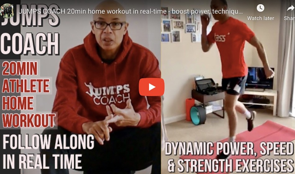 Jumps coach 20-minute home workout