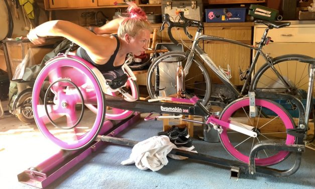 World record aim fuels Sammi Kinghorn's lockdown training