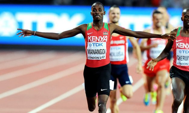 Kenya's 2017 world 1500m champion Elijah Manangoi is provisionally suspended