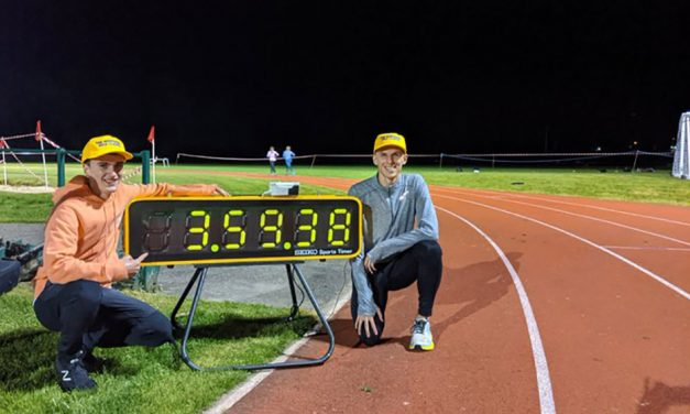 Davies and Crowe-Wright go sub-4 in Stirling