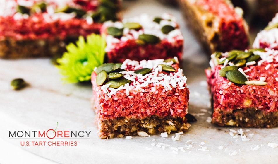 Recipe: Tart cherry vegan superfood bars