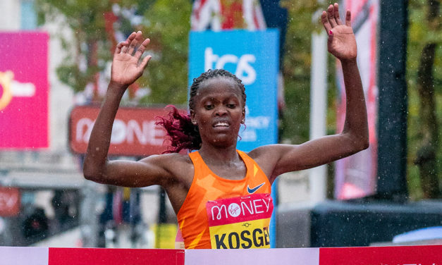 Runaway win for Brigid Kosgei in London