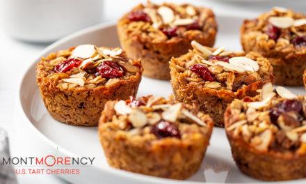 Recipe: Tart cherry almond baked granola cups