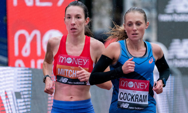 Naomi Mitchell's eye-catching marathon progress