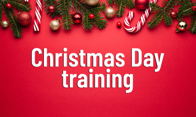 Who will or won't be training on Christmas Day?