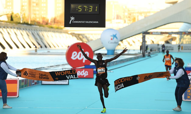 Half-marathon record shattered in Valencia