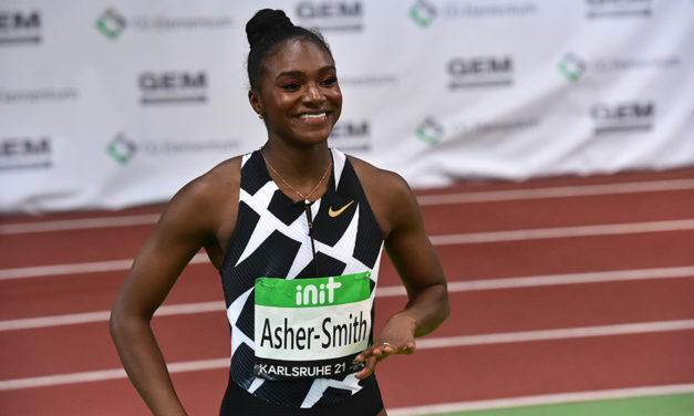 Dina Asher-Smith storms to fast 60m win in Karlsruhe