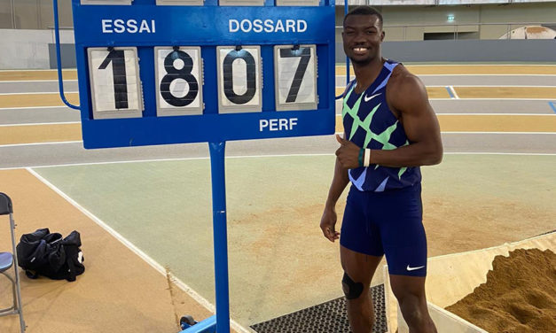 Hugues Fabrice Zango breaks world indoor triple jump record