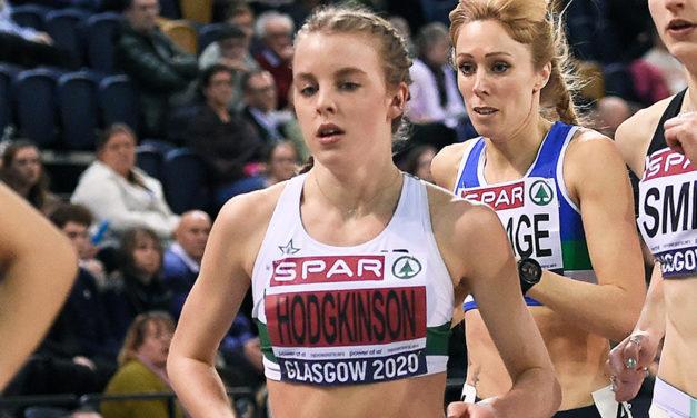 Keely Hodgkinson smashes world under-20 indoor 800m record