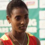 Tsigie Gebreselama keeps her focus in face of conflict