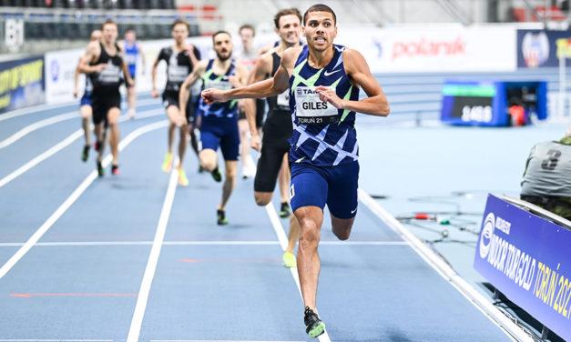 Elliot Giles smashes Seb Coe's British indoor 800m record in Toruń
