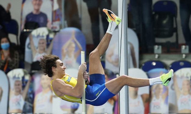 Mondo Duplantis takes European title and comes close with world record attempt