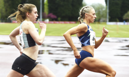 Alex Bell and Keely Hodgkinson in form at Trafford Grand Prix