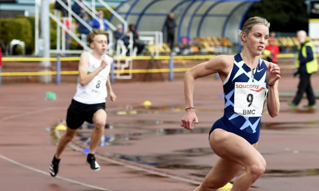 Keely Hodgkinson tests her speed in grassroots league