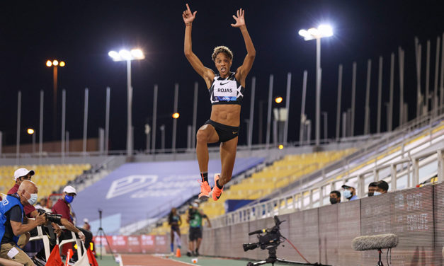 The heat is on at the Diamond League in Doha