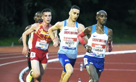 Marc Scott beats Mo Farah in symbolic race within a race