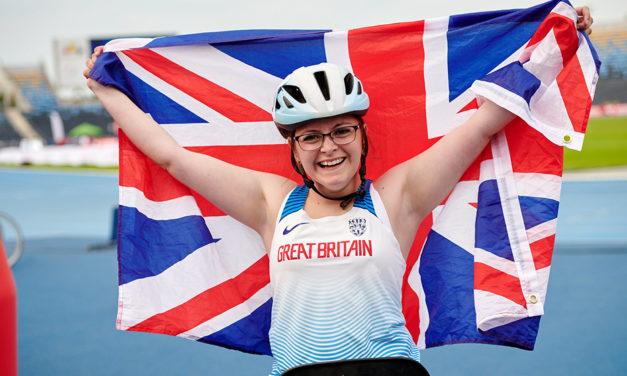 World record for Kayleigh Haggo at Euro Para Champs